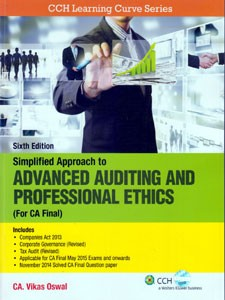 SIMPLIFIED APPROACH TO ADVANCED AUDITING AND PROFESSIONAL ETHICS (FOR CA FINAL)