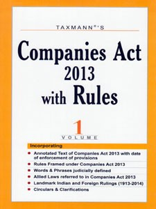COMPANIES ACT 2013 WITH RULES