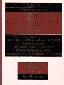 COMMENTARY ON THE COPYRIGHT ACT, 1957