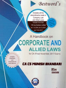 A HANDBOOK ON CORPORATE AND ALLIED LAWS FOR CA FINAL