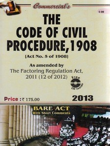 THE CODE OF CIVIL PROCEDURE, 1908 (Bare Act)