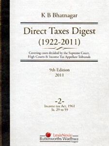 DIRECT TAXES DIGEST (1922-2011)