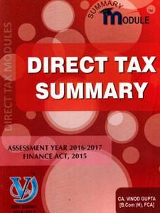 DIRECT TAX SUMMARY 2016-17