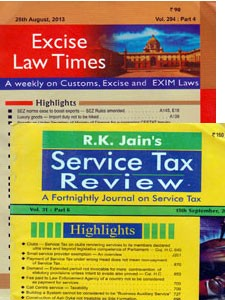 EXCISE LAW TIMES (ELT) with GST LAW TIMES  (GST)