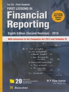 FIRST LESSONS IN FINANCIAL REPORTING
