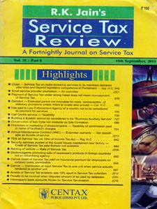 SERVICE TAX  REVIEW (STR)