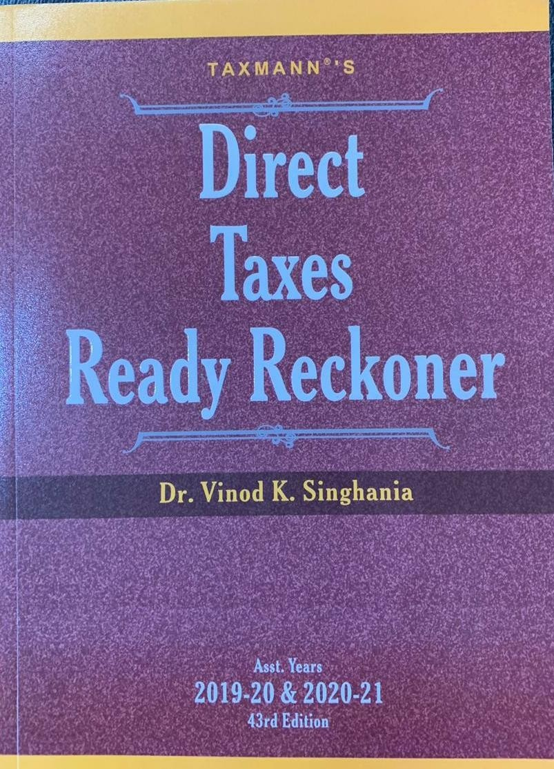 DIRECT TAXES READY RECKONER 2019-20