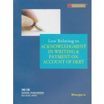 LAW RELATING TO ACKNOWLEDGMENT IN WRITING & PAYMENT ON ACCOUNT OF DEBT